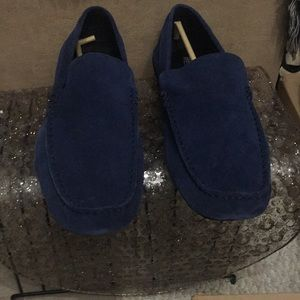 Nice Kenneth Cole Blue suede shoes